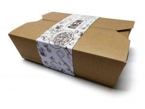 Food Box e fascetta stampata
